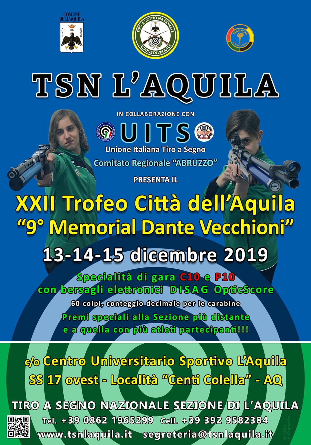22° Trofeo Città dell'Aquila – 9° Memorial Dante Vecchioni